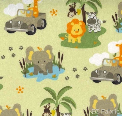Safari Jeep Print on Minky Fabric by EZ Fabric