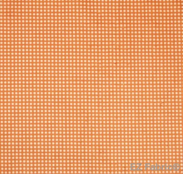 Swiss Dot Orange Print Minky By EZ Fabric