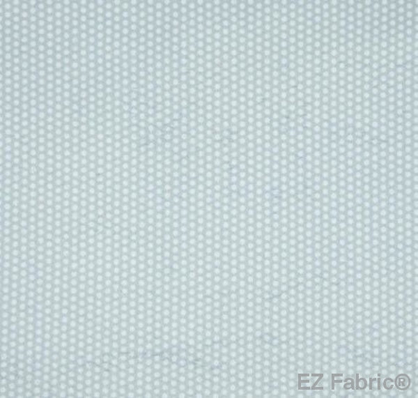 Swiss Dot Silver Print Minky By EZ Fabric