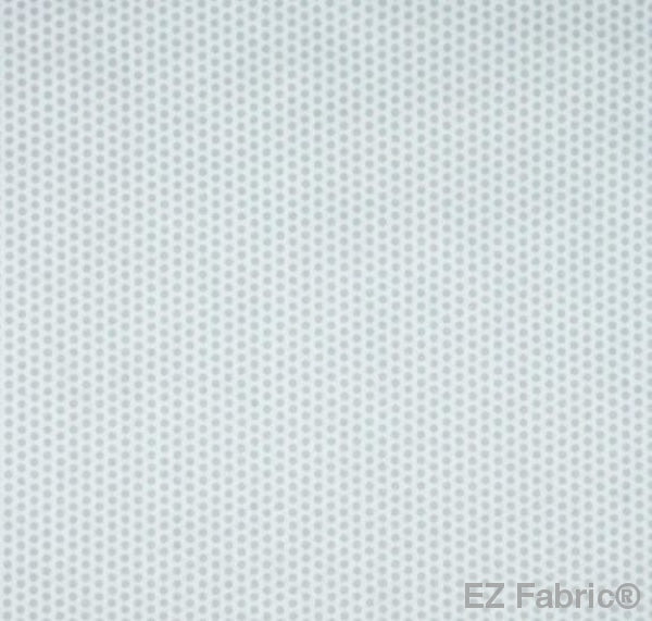 Swiss Dot White Print Minky By EZ Fabric