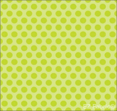 Two Tone Dot Green Print Minky By EZ Fabric