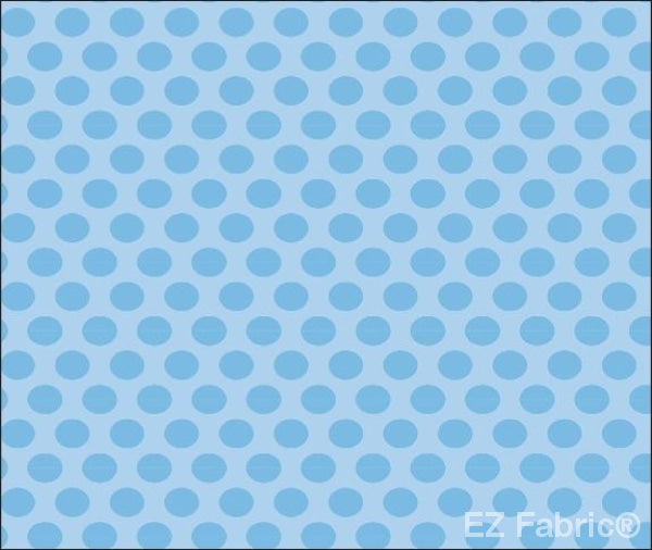 Two Tone Dot Light Blue  Print Minky By EZ Fabric