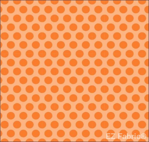 Two Tone Dot Orange Print Minky By EZ Fabric