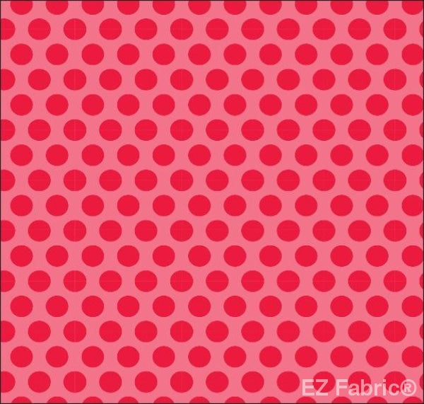 Two Tone Dot Raspberry Print Minky By EZ Fabric