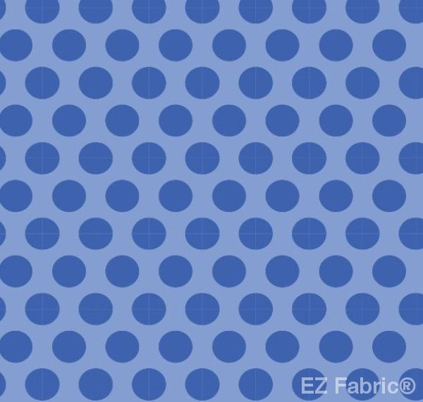 Two Tone Dot Royal Blue  Print Minky By EZ Fabric