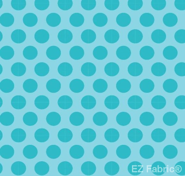 Two Tone Dot Turquoise Print Minky By EZ Fabric