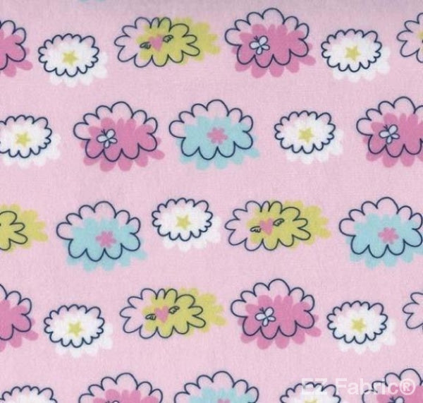 Unicorn Poof Pink Print Minky By EZ Fabric