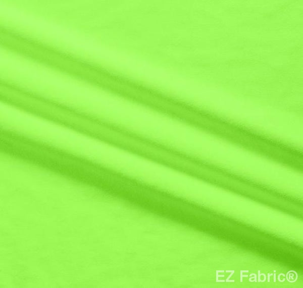 Silky Minky Smooth Bright Lime by EZ Fabric