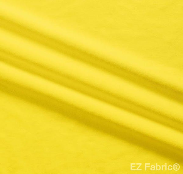 Silky Minky Smooth Bright Yellow by EZ Fabric