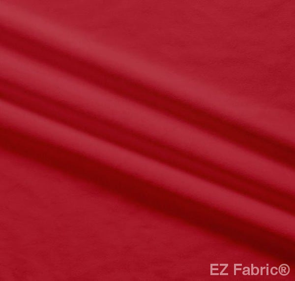 Silky Minky Smooth Cherry Red by EZ Fabric