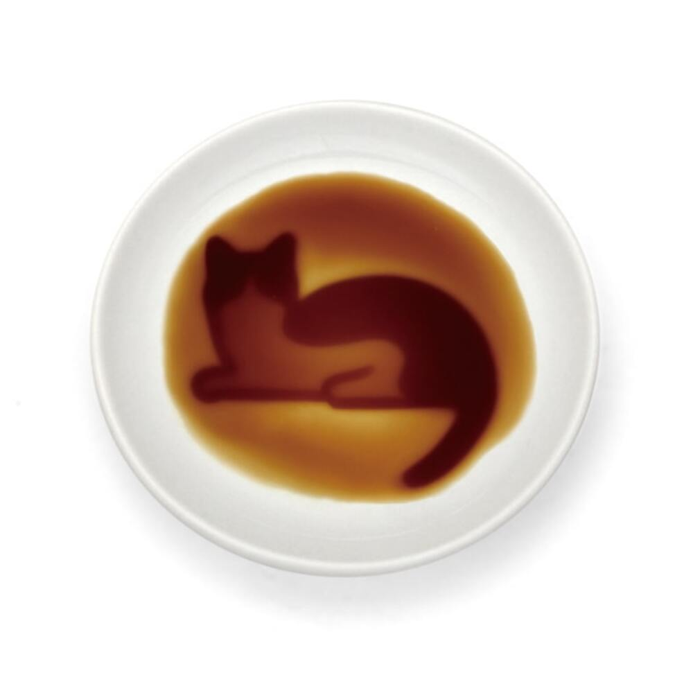 "[NEW] Alta Relaxing Cat Soy Sauce Dish 3.54"" dia"