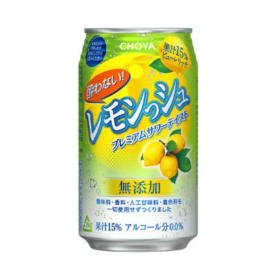 Choya Lemon-shu Non-alcohol 11.8 fl oz (350ml) x 24 cans