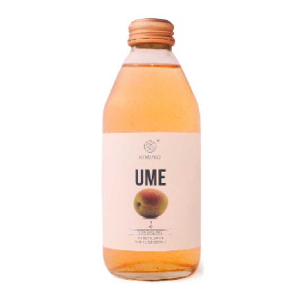 Kimino Sparkling Ume Plum Juice 8.45 fl oz (250ml) x 24 bottles