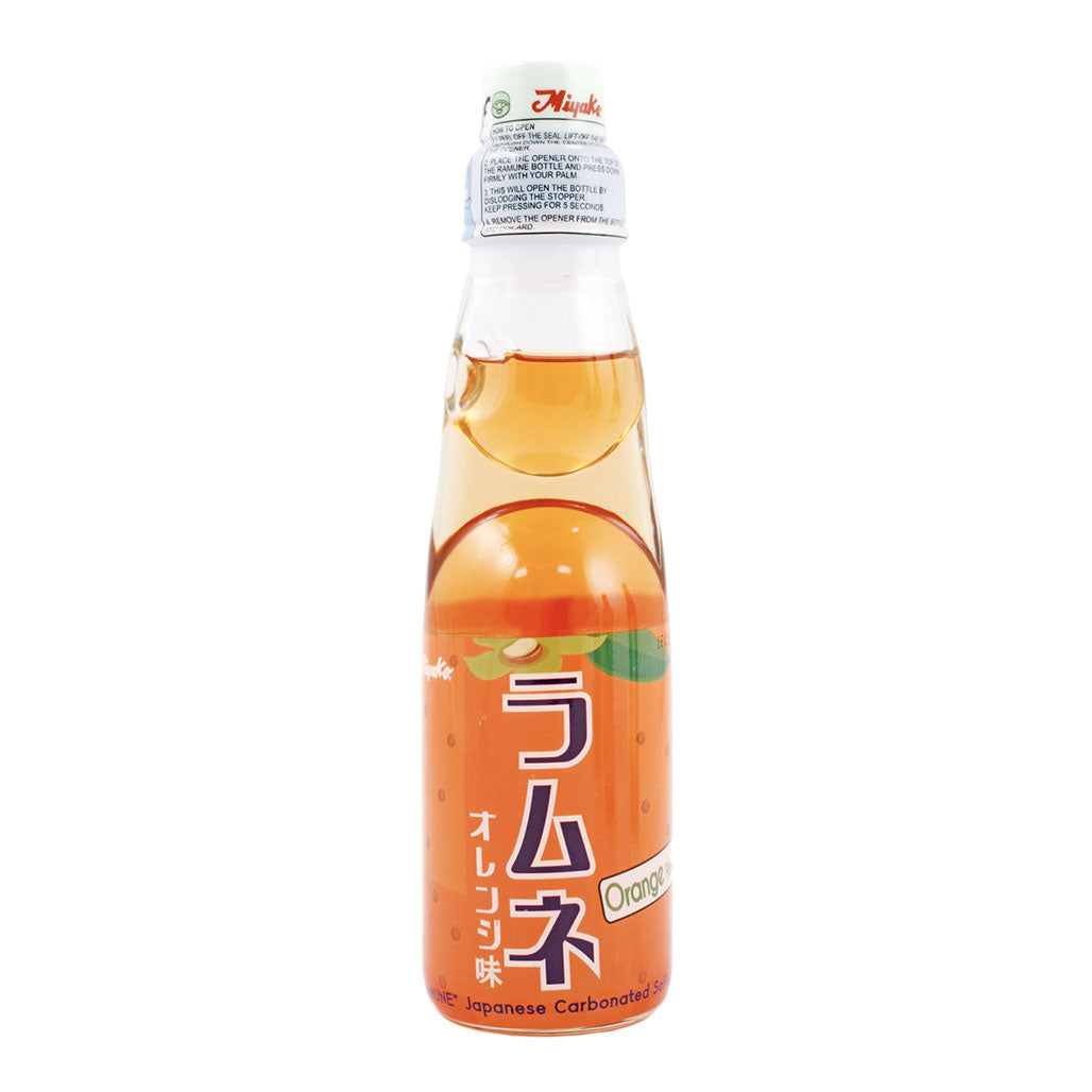 Miyako Ramune Orange Flavored Soda 6.76 fl oz (200ml) x 30 bottles