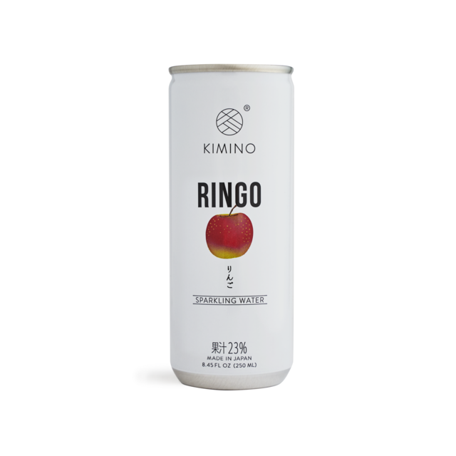 Kimino No Sugar Ringo Fuji Apple Sparkling Water 8.45 fl oz (250ml) x 30 cans