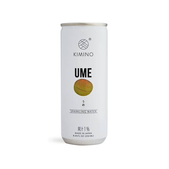 Kimino No Sugar Ume Plum Sparkling Water 8.45 fl oz (250ml) x 30 cans Japanese Grocery Deliver to NY NJ