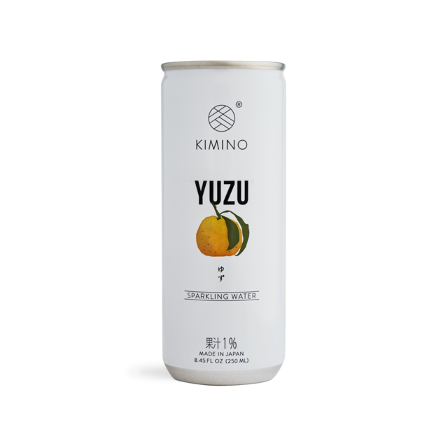 Kimino No Sugar Yuzu Citrus Sparkling Water 8.45 fl oz (250ml) Japanese Grocery Deliver to NY NJ