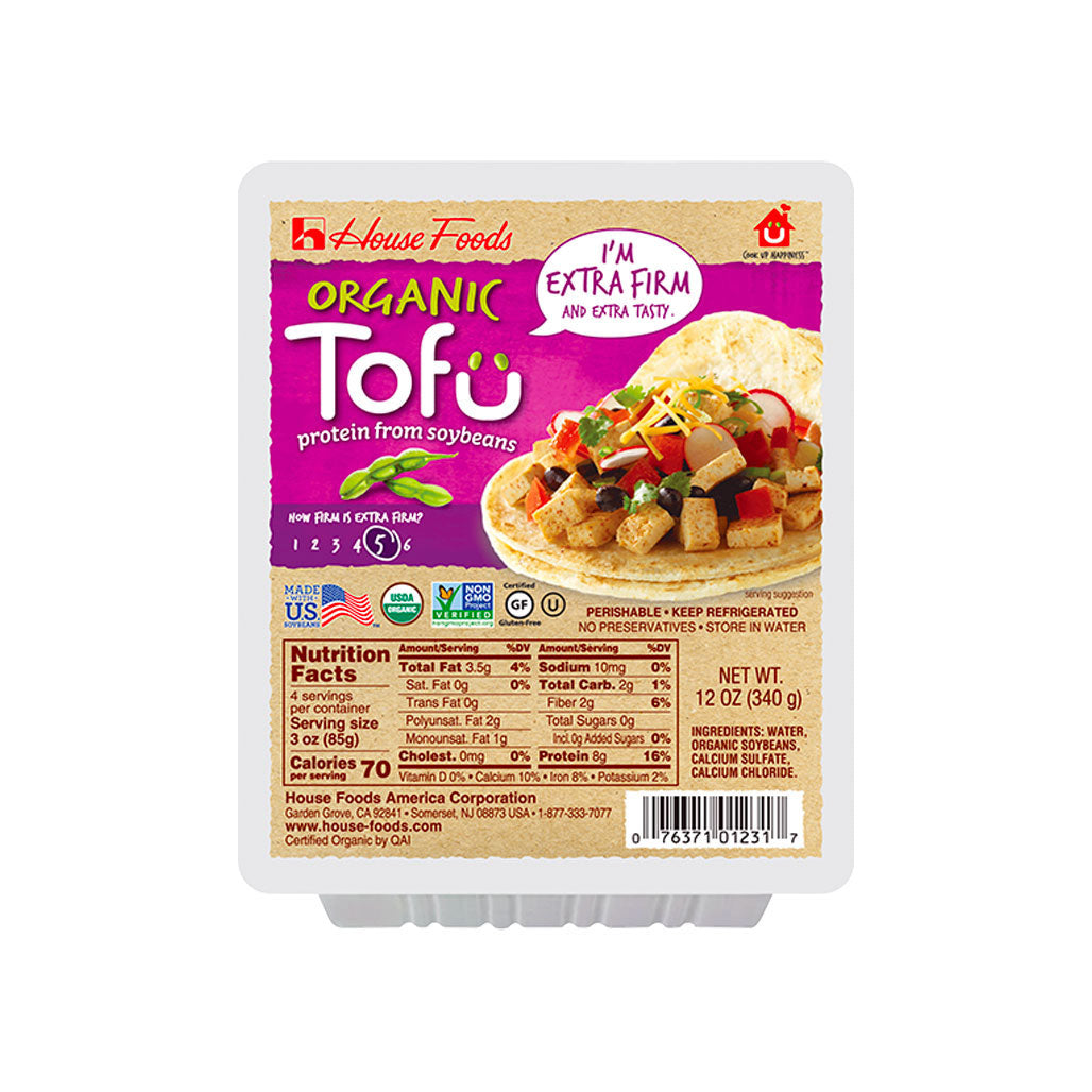 House Organic Non-GMO Tofu Extra Firm 12 packages of 12 oz (340g)