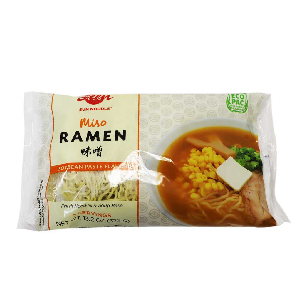 Sun Noodle Miso Ramen Noodle with Soup 2 Servings Japanese Grocery Deliver to NY NJ