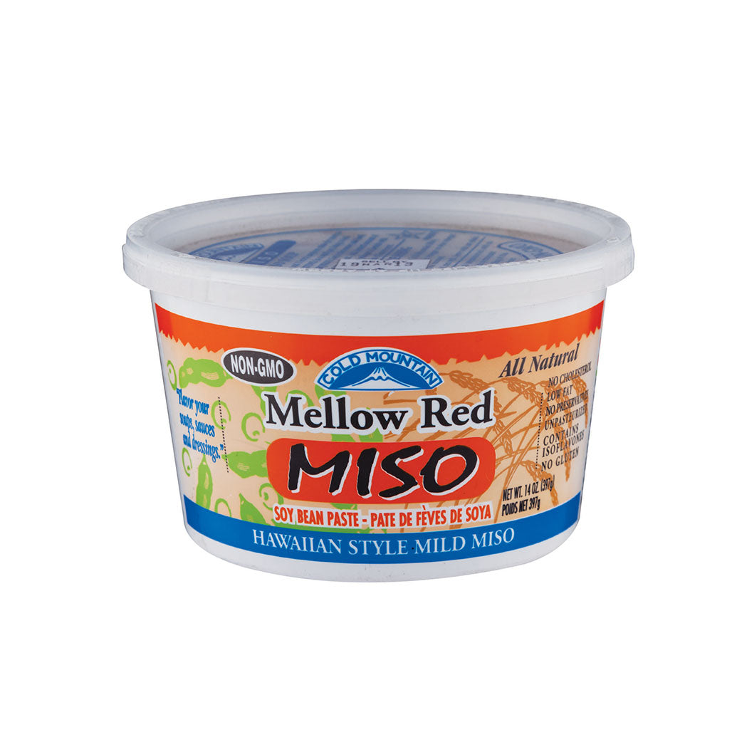 Cold Mountain Mellow Red Miso 14 oz (397g) Non-GMO, Organic Soybeans