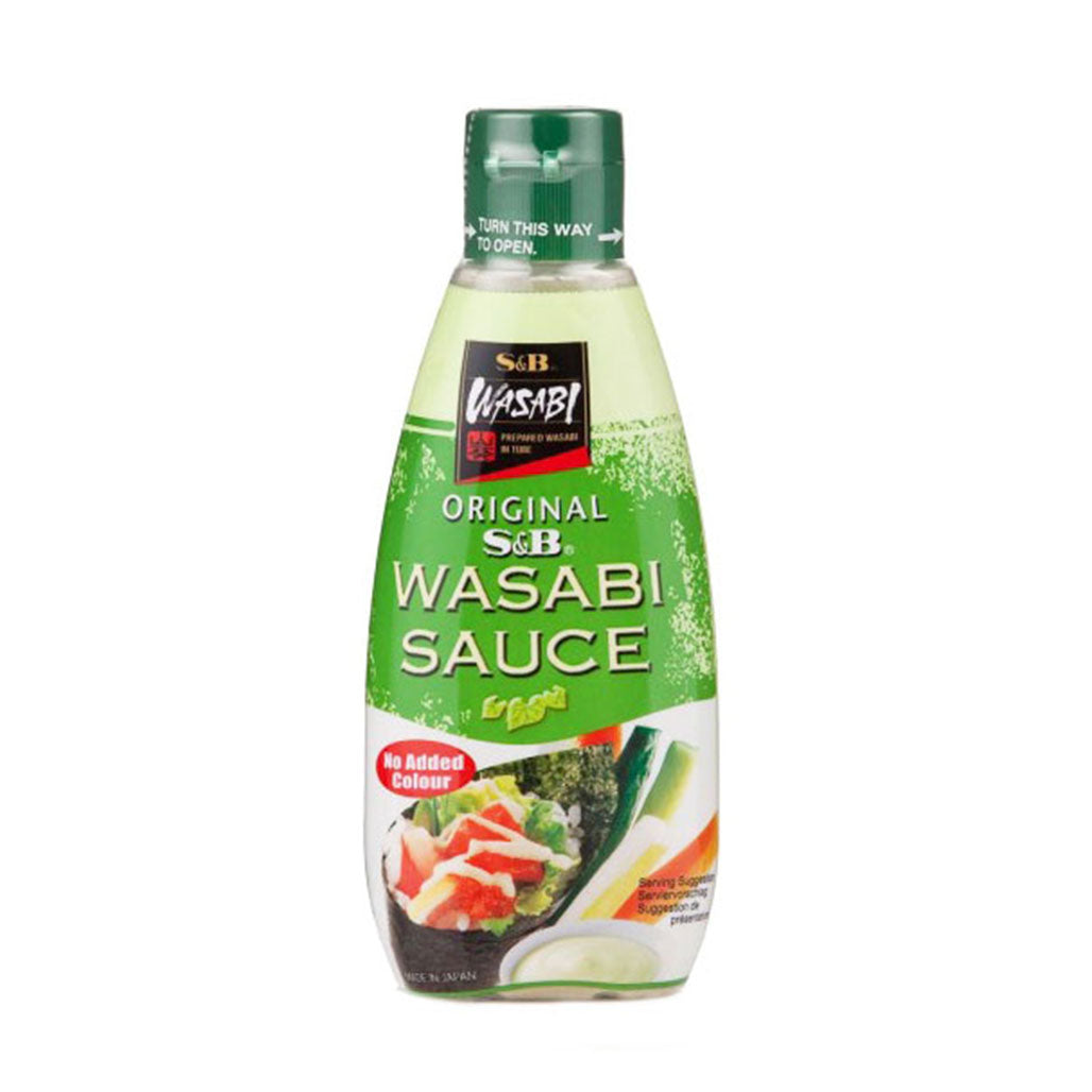 S&B Wasabi Sauce No-Color Added 5.3 fl oz (157 ml) x 6 bottles
