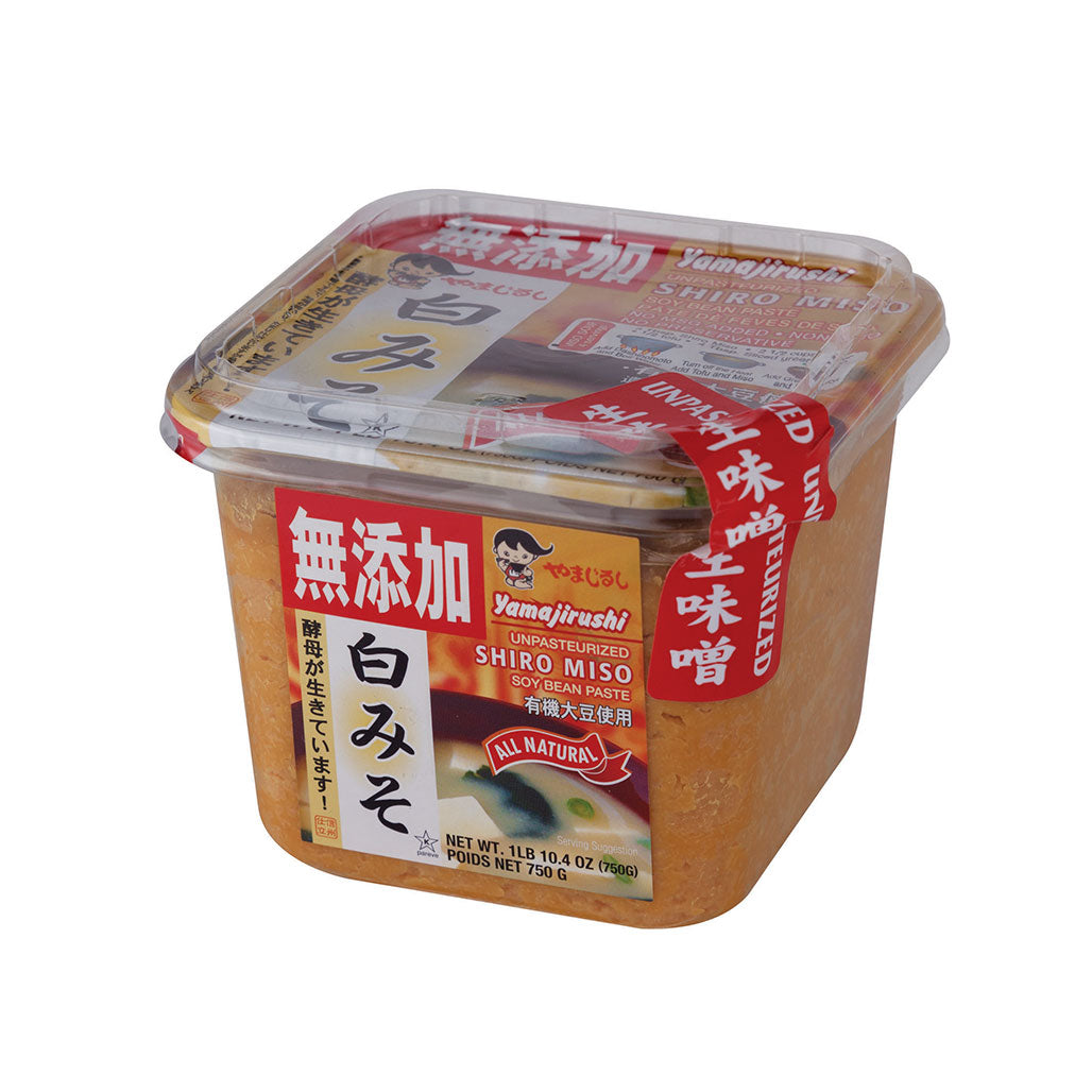 Yamajirushi White Nama Miso 26.5 oz (750g) No Additives, Organic Soybeans