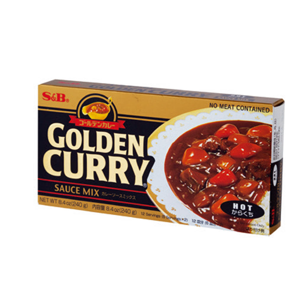 S&B Golden Curry Sauce Mix Hot  7.76 oz / 220g