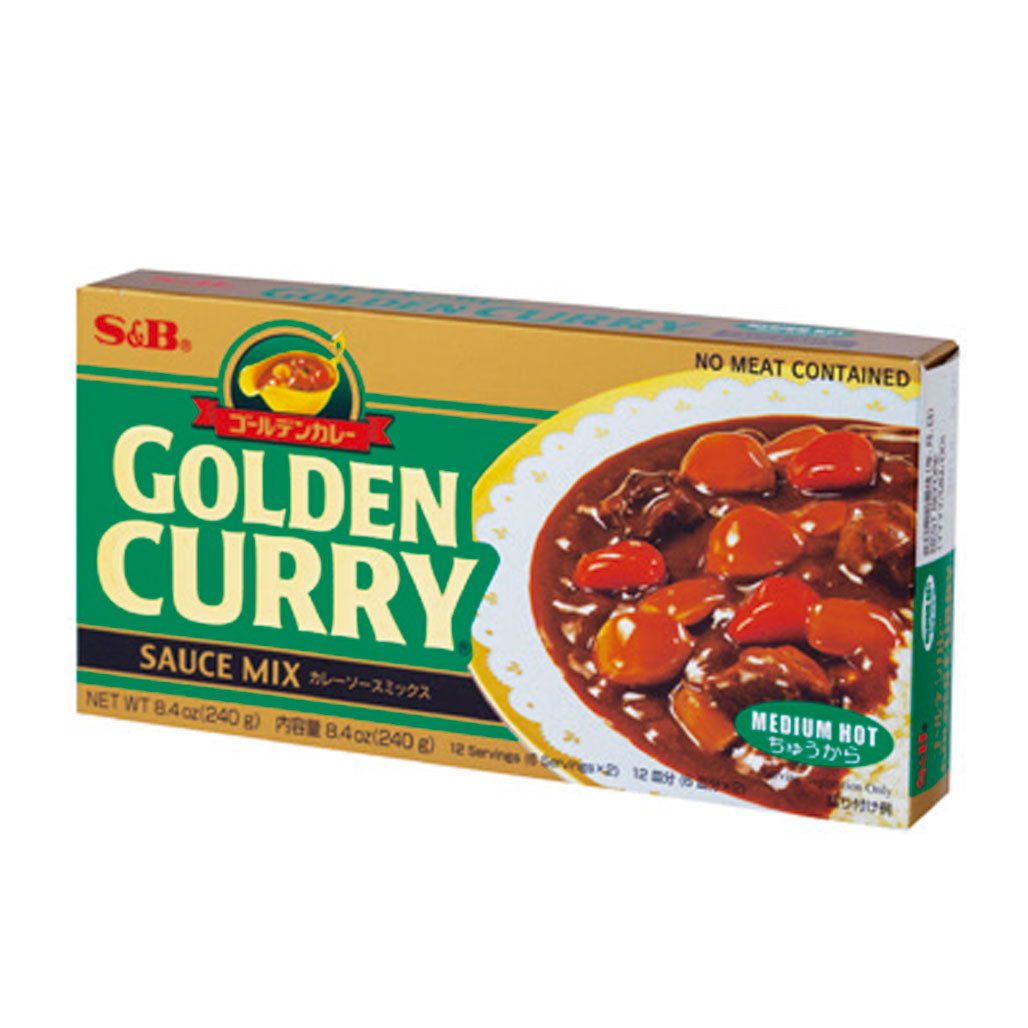 S&B Golden Curry Sauce Mix Medium-Hot  7.76 oz / 220g