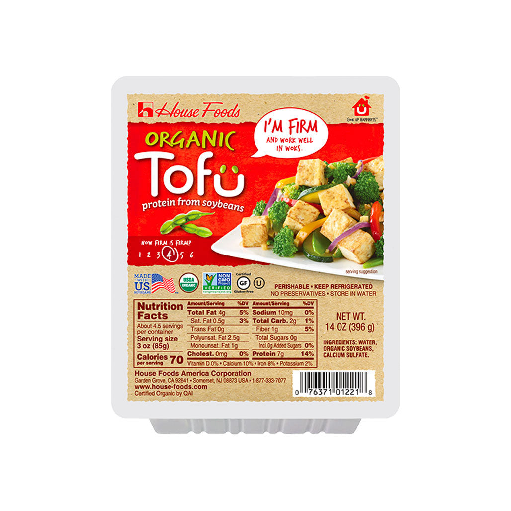 House Organic Non-GMO Tofu Firm 12 packages of 14 oz (396g)
