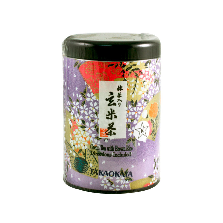 Takaokaya Genmai-cha Green Tea with Matcha 3.5 oz / 100g Loose Leaf