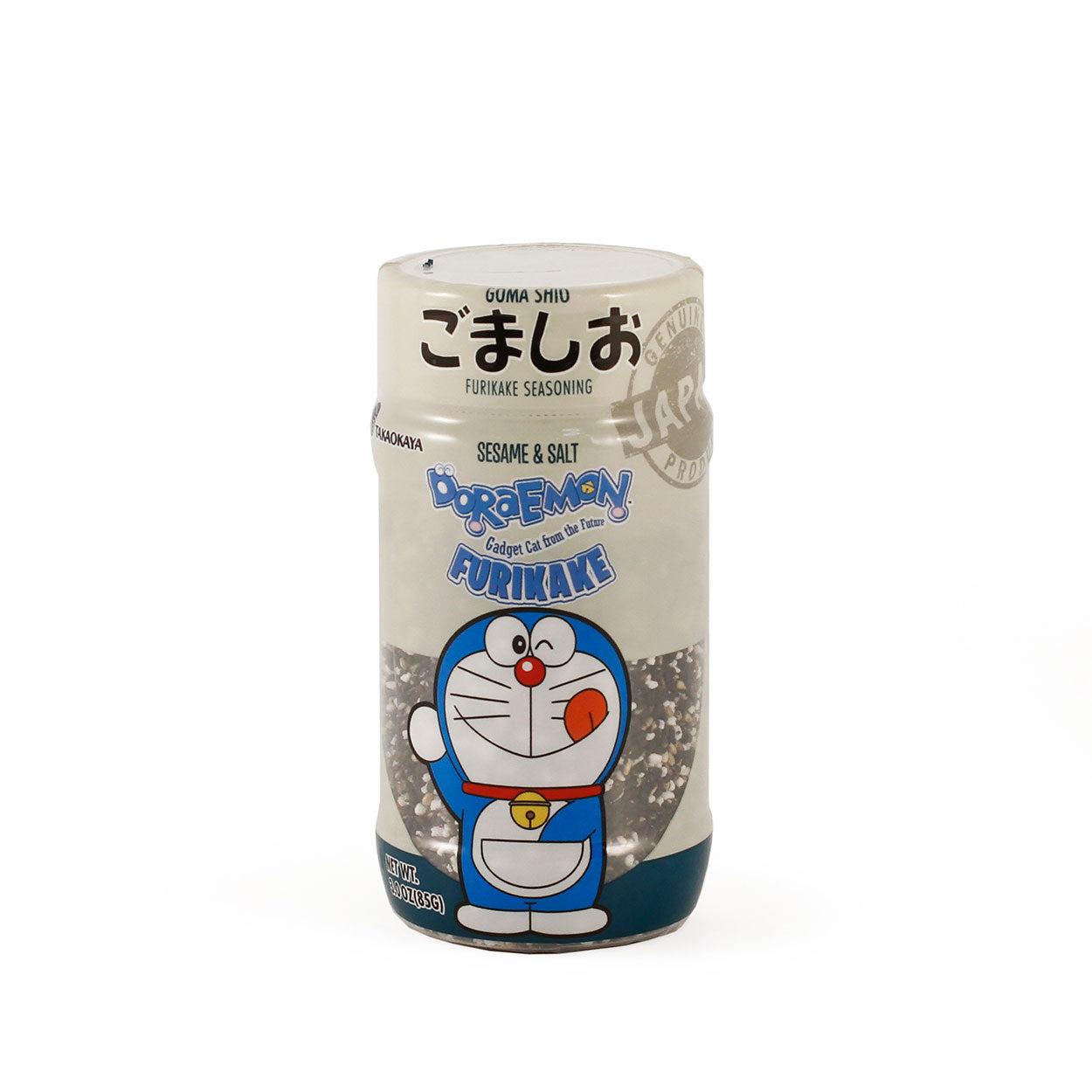 Takaokaya Furikake Roasted Black Sesame and Salt (Goma Shio) 2.99oz / 85g