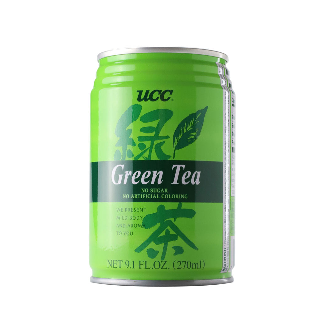 UCC Green Tea 9.1 fl oz (270ml) x 24 cans
