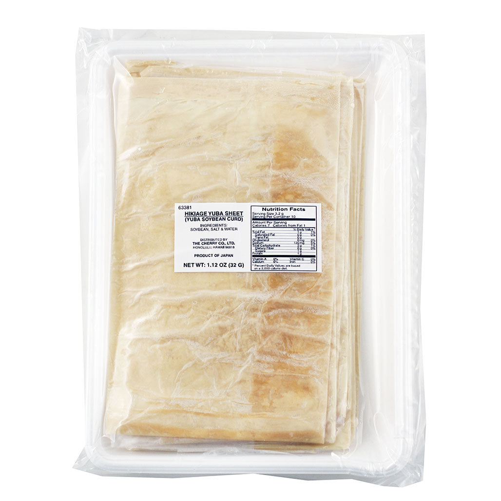 Frozen Hikiage Yuba Tofu Skin Sheet 10 sheets 1.13 oz (32g)