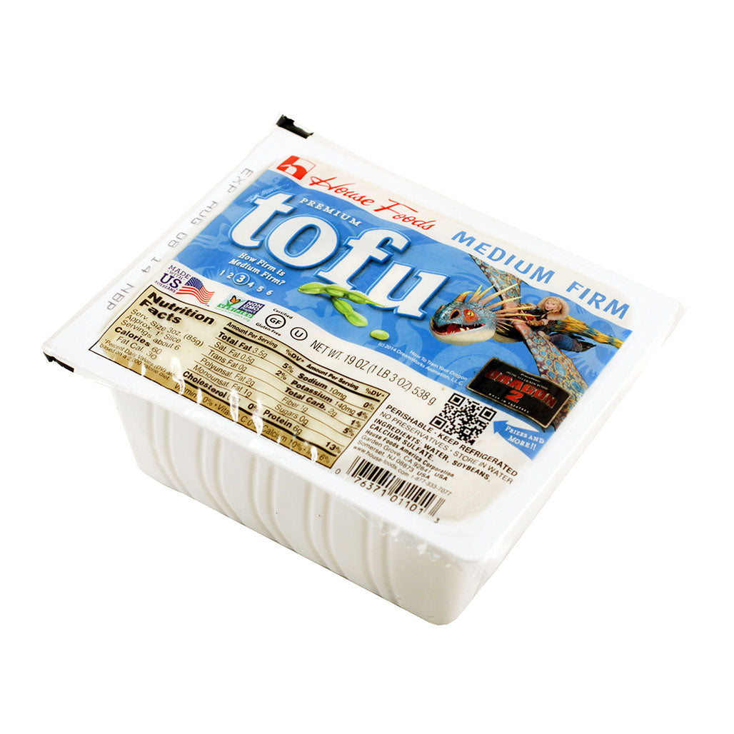 House Non-GMO Tofu Medium Firm 12 packages of 19 oz (538g)
