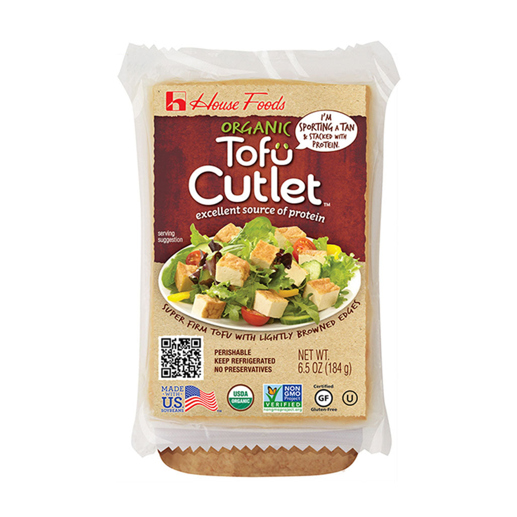 House Organic Non-GMO Tofu Fried Cutlet 6.5 oz (184g)