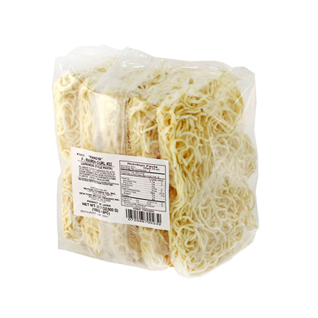 Kanoya Frozen Ramen Noodle Curly 5 pieces x 6.3 oz (180g)
