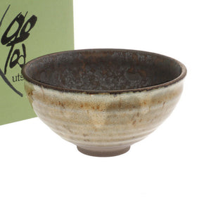 "Matcha Tea Bowl Smokey Bronze 14 fl oz / 4.9"" dia"