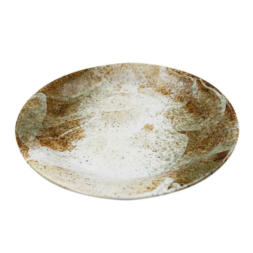 "Yukishino Moss White Serving Plate 11.15"" dia"