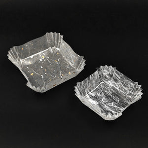 "Disposable Plastic Portion Cup Square LG 3.5""x3.5"" 300 pcs"