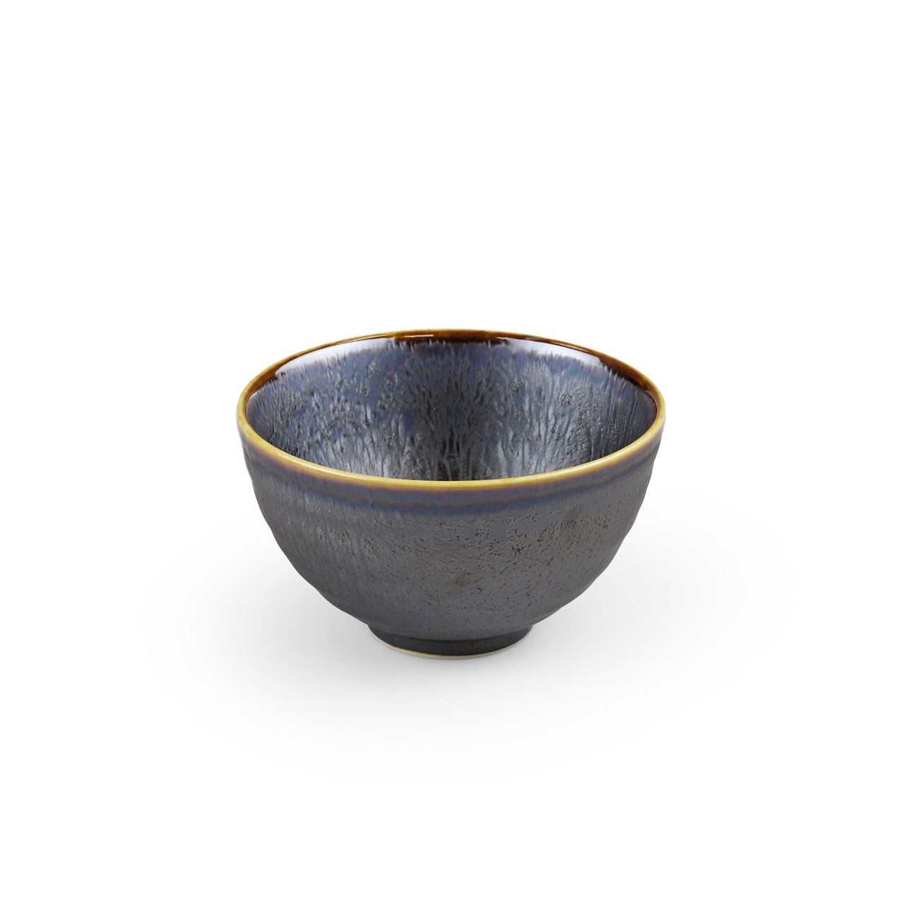"Metallic Black Grazed Rice Bowl 12 fl oz / 4.5"" dia"