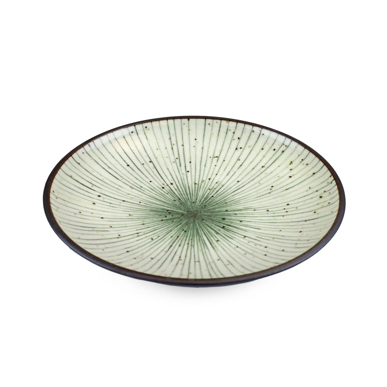 "Tokusa Blue Lined Interior Salad Plate 7.75"" dia"