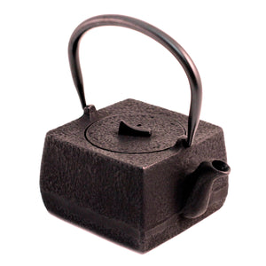 Square Nanbu Cast Iron Teapot 18 fl oz
