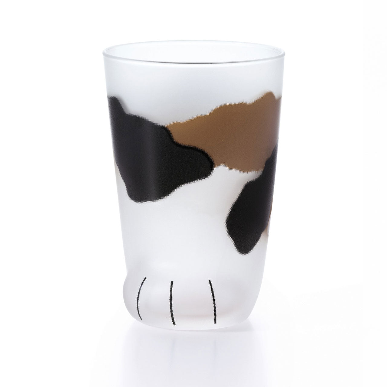 Coconeco Calico Cat Paw Glass Tumbler 9 fl oz