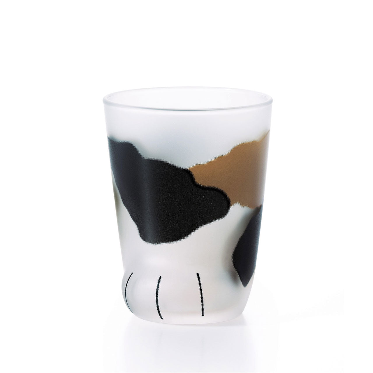 Coconeco Calico Cat Paw Glass Tumbler 6.5 fl oz