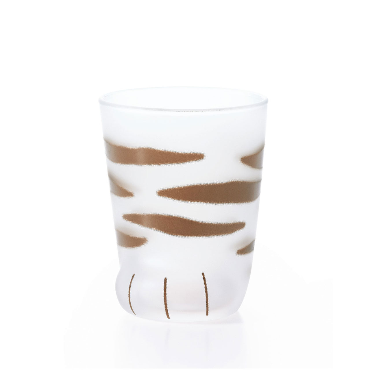 Coconeco Striped Cat Paw Glass Tumbler 6.5 fl oz