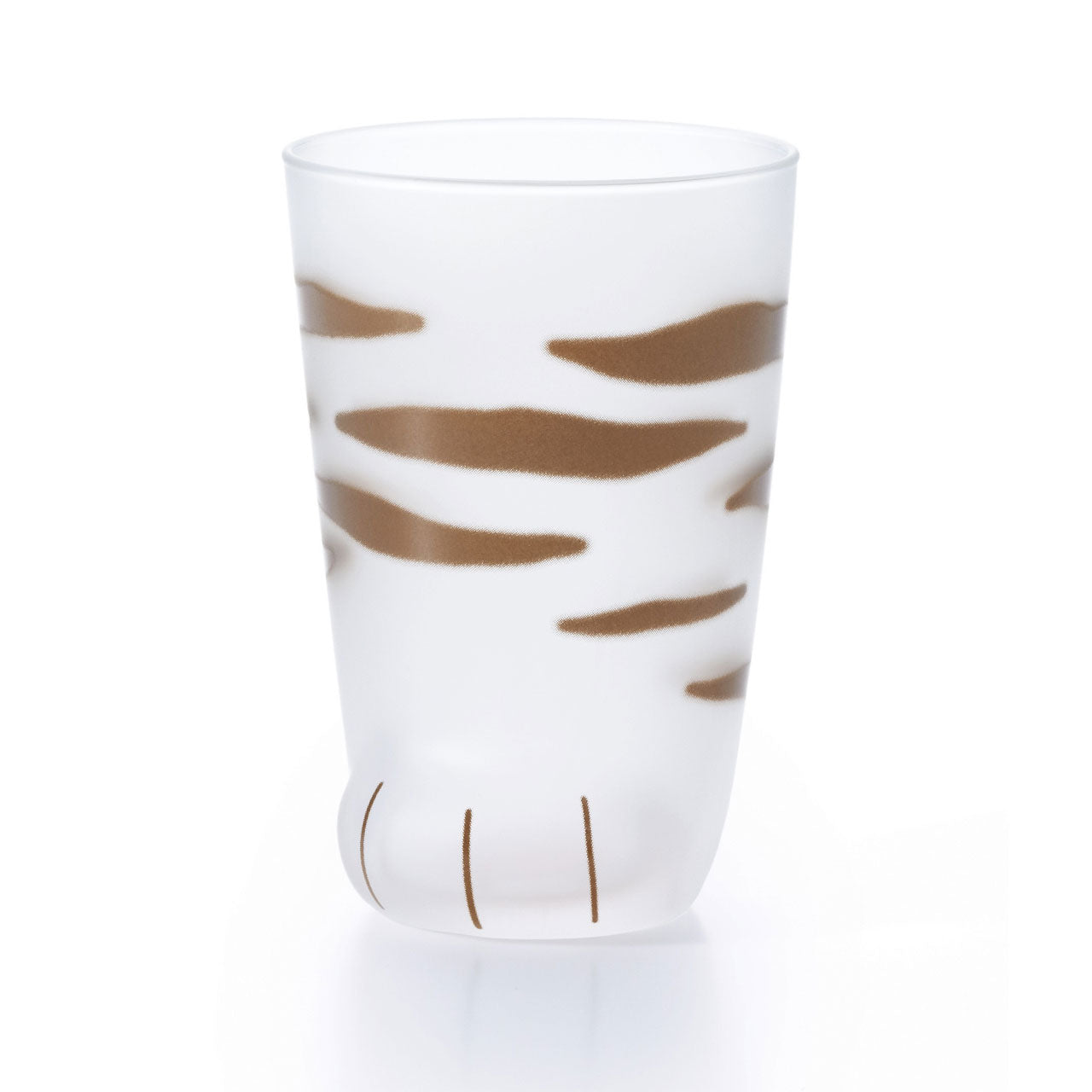Coconeco Striped Cat Paw Glass Tumbler 9 fl oz
