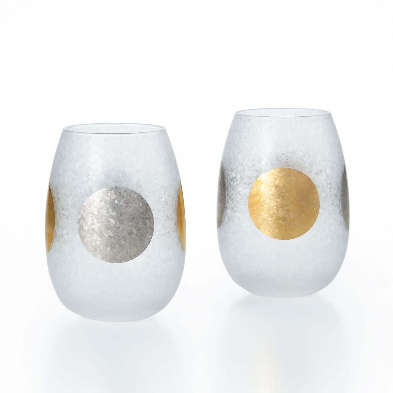[New] Ishizuka Glass Sun-Moon Tumbler Pair 10.6 fl oz