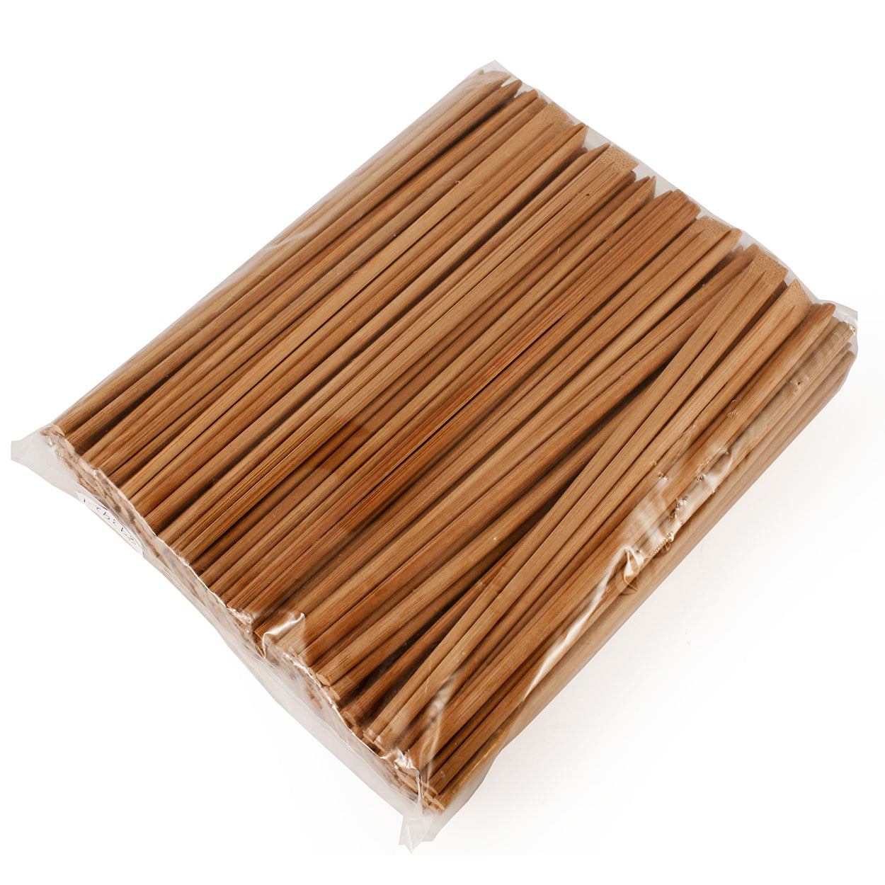 "8.25"" Disposable Carbonized Slanted Tip Bamboo Chopsticks - 100 Pairs / Pack"