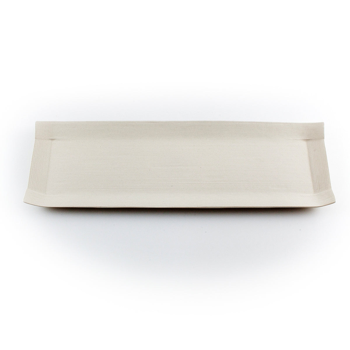"Ivory Paper-Like Plate 14.37"" x 4.76"""