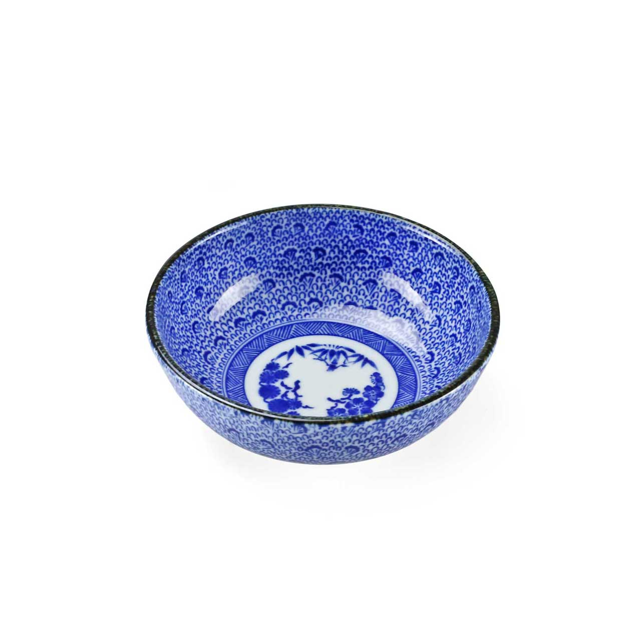 "Blue Kosome Pattern Kobachi Bowl 4.5"" dia"